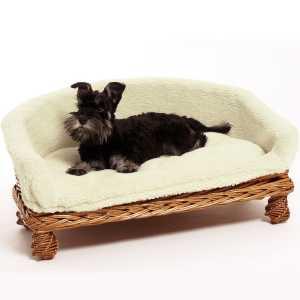 Weidenkorb-Hundesofa